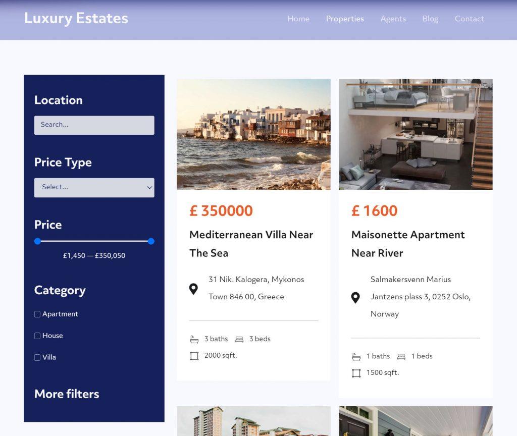 Luxury Estates properties